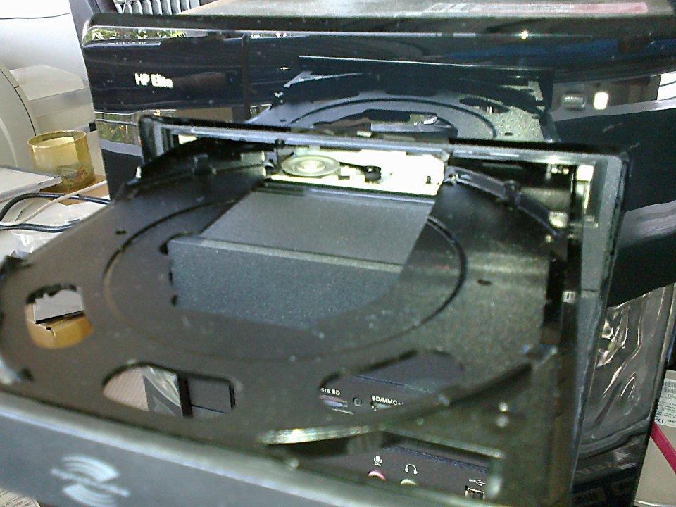 DVD drive with open tray